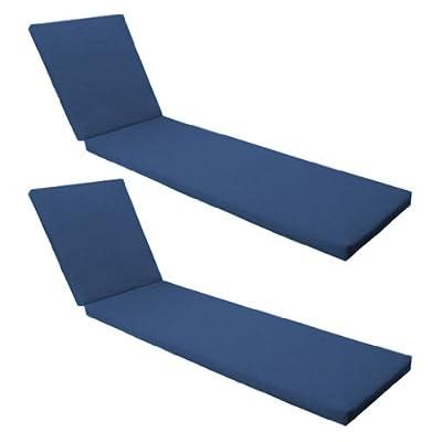 Blau Wasserdichte Liegenauflage für Resol Master und Marina Sonnenliege - 2er Pack von Gardenista - Gartenmöbel von Du und Dein Garten