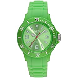 NEO watch 'NICE-1' lime green unisex wristwatch with silicone strap - N1-017