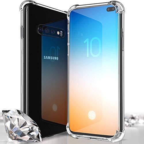 Whish Samsung Galaxy S10 Plus-Hülle [Ultra Slim] Premium-Klarsichttasche mit TPU-Hülle für Galaxy S10 Plus 6.5 Zoll 2019 - Durchsichtig