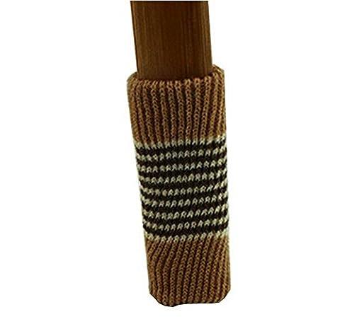 Pied de chaise sol Protector Pads-16 Paquet Meubles Chaussettes [Café, Strips]