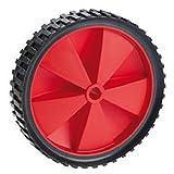 PVC-Rad, bis 25 kg, mit Kunststofffelge rot und Stollenprofil   Durchmesser: 150 mm / Radbreite: 32 mm