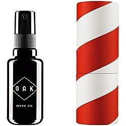 OAK BEARD OIL I Aceite para barba, acondicionador para barba (30 ml): Suaviza la barba con aceites ecológicos. Cuidado natural de la barba para hombres con barba de 3 días hasta barba larga. Cosmética natural vegana y certificada.