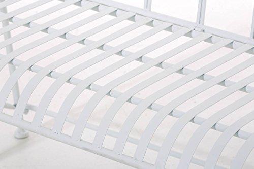 CLP Gartenbank DIVAN im Landhausstil, aus lackiertem Eisen, 106 x 51 cm – aus bis zu 6 Farben wählen Weiß - 6
