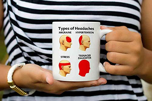 Funny Gifts For Parents Have A Teen Daughter Funny Present Neurologist Types Of Headaches Antistress Coffee Mug Mothers -