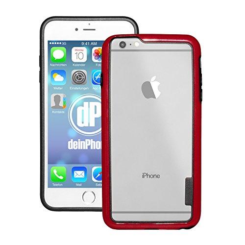 deinPhone Apple iPhone 6Plus (5.5) Custodia Bumper Case rosso/nero
