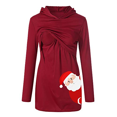 Weihnachten Umstandsmode Damen Umstandspullover Kleid Umstandsshirt La