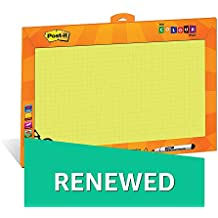 (Renewed) Post – it My Color Wall (Yellow) - Printed Whiteboard/Writing board for kids