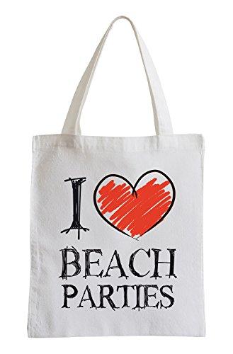 I love plage partis Fun sac de jute