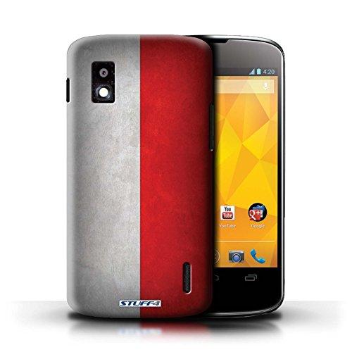 Kobalt® Imprimé Etui / Coque pour LG Nexus 4/E960 / Honduras conception / Série Drapeau Pologne/polonais