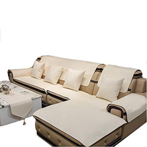 L&zr copridivano 100% antiscivolo impermeabile in pelle mat pet pad proteggi-mobili - bianco,60 * 60cm