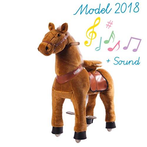 Ponycycle - cheval à roulettes couleur champagne Moyen