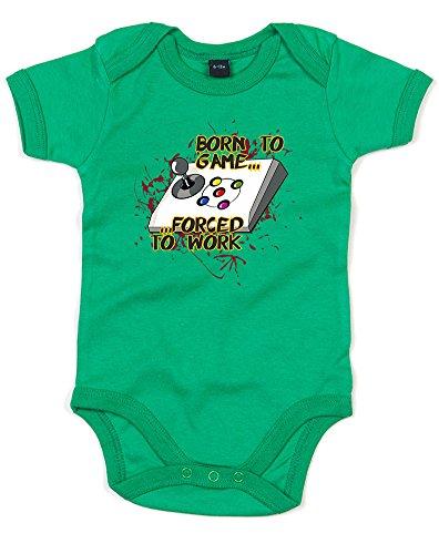 Born To Game...#2, Imprimé bébé grandir - Vert/Transfert 0-3 Mois