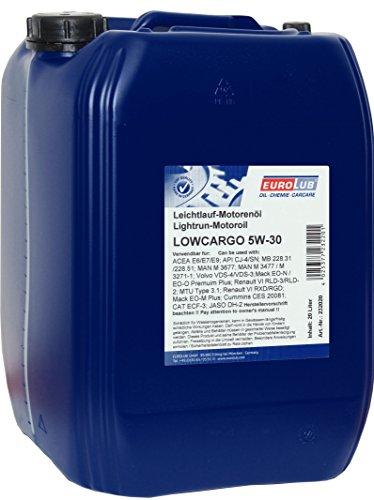 EUROLUB LOWCARGO SAE 5W-30 Motoröl, 20 Liter