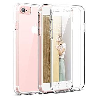 CE-Link Kompatibel mit iPhone 7 Hülle iPhone 8 Hülle 360 Grad [Crystal Clear] Transparent Hüllen mit Integriertem Displayschutz Silikon und PC Handyhülle für iPhone 7 / 8 4.7' Durchsichtige