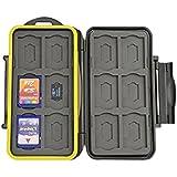 Deyard K020carcasa resistente al agua a prueba de golpes para 12Tarjeta de memoria SDHC/SDXC tarjetas y 12tarjetas Micro SD–Negro