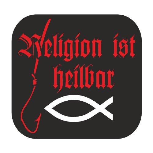 wetterfester Aufkleber Religion ist heilbar Fisch