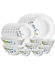 Larah by Borosil Lavender Opalware Dinner Set