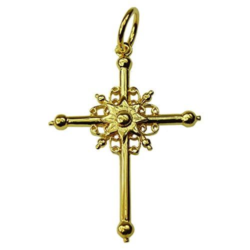 Souvenirs de France - Grande Croix de Bourg-Saint-Maurice - Matériau : Argent Plein, Plaqué Or ou Or Plein 18-Carats