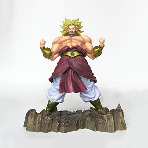 ZDNALS Dragon Ball Anime Statue Legendary Super Saiyan Broly Juguete Modelo PVC Anime Decoración Colección -9.8in Estatua