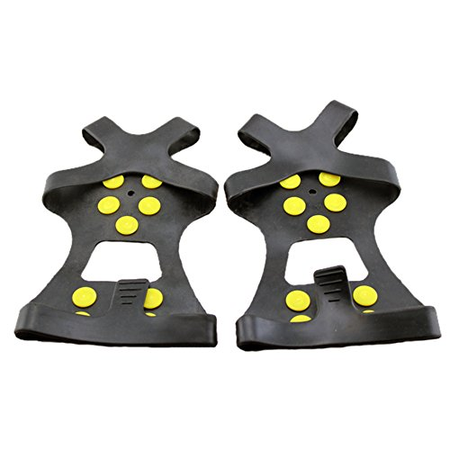 ezyoutdoor-1-pair-ice-traction-universal-black-over-shoe-studded-snow-grips-ice-spikes-anti-slip-sno