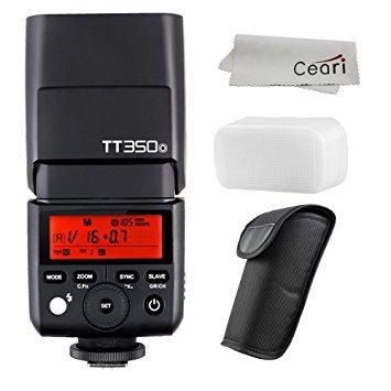 3 Monolight Kit (Godox tt350o 2,4G TTL Speedlite GN361/8000s HSS Kamera Blitz für Olympus spiegellose Kameras mit Mikrofaser Tuch)