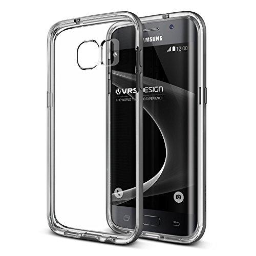 VRS Design Kameraschutz Crystal Hülle kompatibel mit Samsung Galaxy S7 Edge PC TPU Schutzhülle Sttel Silver | Transparent Ultra Slim Cover Backcase