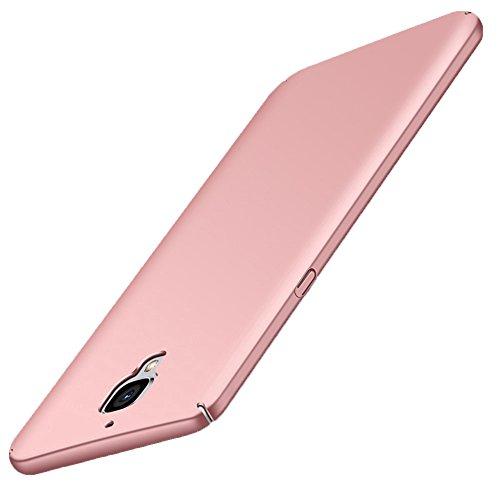 OnePlus 3 / 3T Hülle GOGODOG Vollständige Abdeckung Ultra dünn Matte Anti-Rutsch Kratzen Beständig für One Plus 3 / 3T (Rosa)