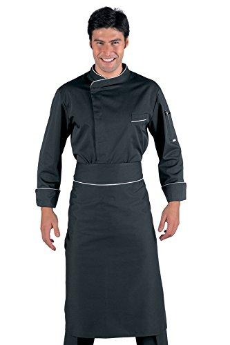 059311 Giacca cuoco Bilbao - Isacco Nero+Bianco per Abbigliamento per la cucina per Divise ufficiali Federazione Italiana Cuochi FIC Donna Uomo Giacche