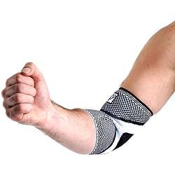 Snug Ellenbogenbandage mit Gelkissen | Effektiv bei Ellenbogenverletzung und Operationen | Gezielte Kompression, maximale Effektivität, individuelle Anpassung | Atmungsaktives, elastisches Komfortmaterial | Geeignet beim Sport oder im Alltag X-Large