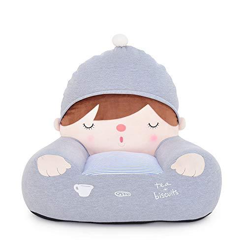PUDDINGT® Kindersessel, Kindersofa Cartoon Mädchen und Jungen Geburtstagsgeschenk Spielzeug Faul Gepolstert Nettes Baby Kleines Sofa Sitz Kind Stuhl,Blue