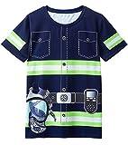 Cosavorock Camisetas de Traje de Bombero para Hombre (L, Azul Marino)