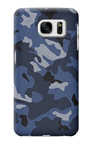 R2959 Navy Blue Camo Camouflage Case Cover For Samsung Galaxy S7