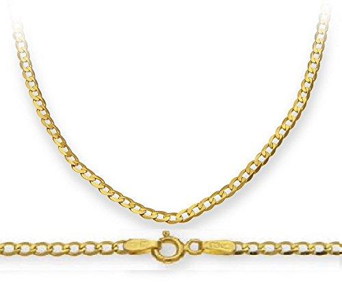 Halskette Für Gold Karat Frauen 14 (14 Karat / 585 Gold Panzerkette Gelbgold Unisex Kette - Breite 2.3 mm - Länge wählbar (50))