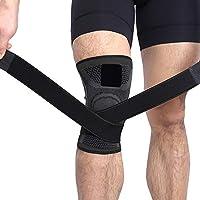 3D Kniebandage Kompression Warm Mit Verstellbarem Weben Für Kniestütze, Knieschützer, Knie Schmerzlinderung Und Knieschoner, 2 Stück,Black,XXL