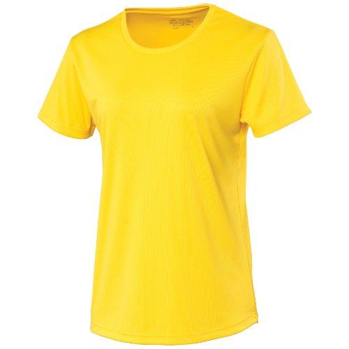 Just Cool Damen Sport T-Shirt unifarben (Medium) (Sonnengelb) - Doll Kostüm Für Jugendliche