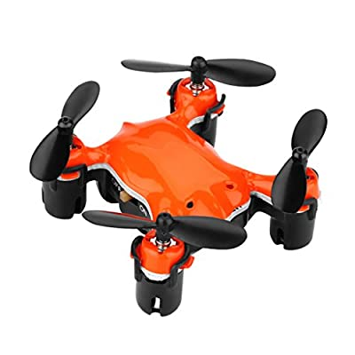 Virhuck Volar-360 2.4 GHz RC Quadcopter Helicopter Nano Spy Mini Drone 4.5 CH 6 Axis Gyro System Remote Control Flip Fly UFO 3D Rotation 360 Degree Eversion LED Lights Headless Key Return Control Christmas Gift Toy for Kids - Orange