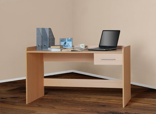 4510 -2- Kinderschreibtisch Schreibtisch, höhenverstellbar, 140cm breit (buche)