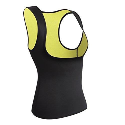 Damen Hot Sport Weste,Schweiß Neopren Body Shaper Korsett Waist Taille Cincher Sauna-Anzug (M(Fit 28.3-32.2 Inch Waist), Black(3-5 Days (Kostüme Gut Drei Person)