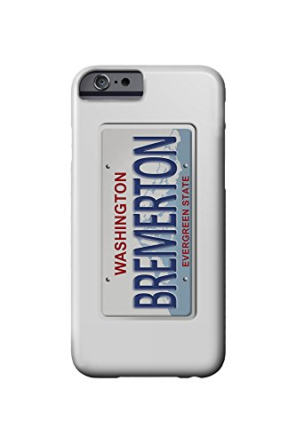 Bremerton, Washington - License Plate (iPhone 6 Cell Phone Case, Slim Barely There)