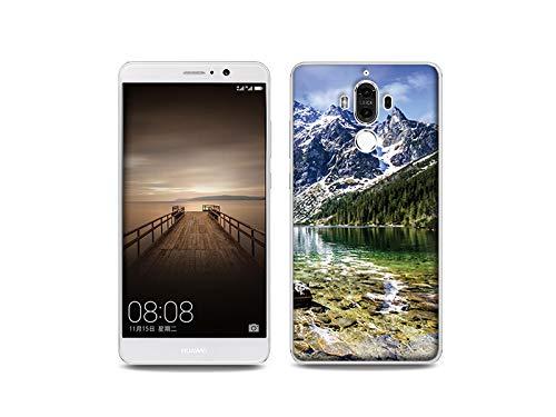 etuo Huawei Mate 9 - Hülle, Silikon, Gummi Schutzhülle - Gebirgsbach