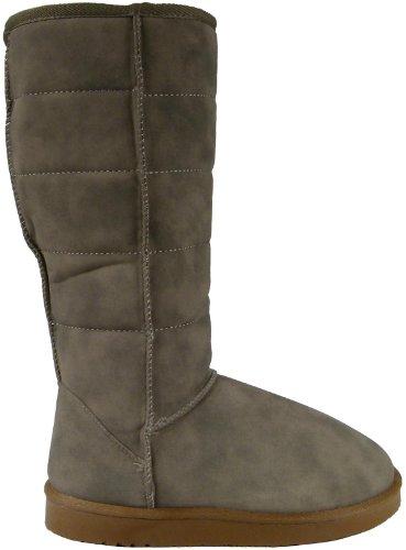 Damen Winterstiefel Schneestiefel Winter Stiefel Boots Winterboots Schneeboots - warm gefüttert Grau