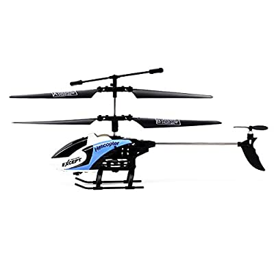 RC Helicopter with Camera, 3.5 Channel 2.4GHz Wireless Radio Remote Control Helicopter with Gyro Ready to Fly, Dual Rotor with Transmitter Receiver for Indoor Outdoor Adult Kids Gift