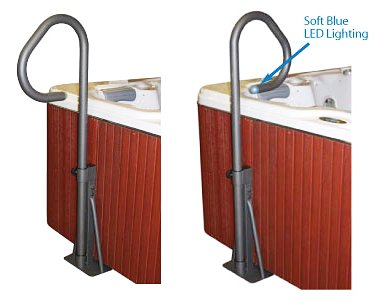 Essentials Spa Side Undermount Handrail with LED Lighting - Safety Rail for Spas and Hot Tubs Test