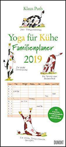 Yoga für Kühe Familienplaner 2019 – Wandkalender – Familien-Kalender mit 6 Spalten – Format 22 x 49 cm