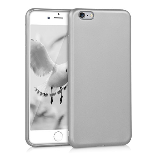 kwmobile Hülle für Apple iPhone 6 Plus / 6S Plus - TPU Silikon Backcover Case Handy Schutzhülle - Cover Metallic Rosegold .Metallic Silber