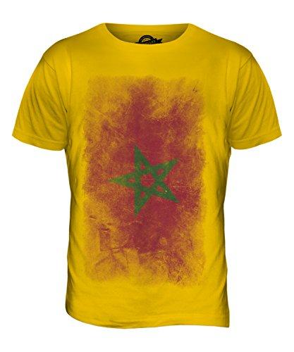 CandyMix Marokko Verblichen Flagge Herren T Shirt Dunkelgelb