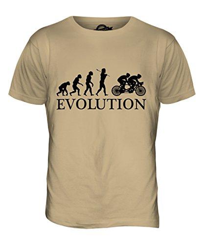 CandyMix Tandem Fahrrad Evolution Des Menschen Herren T Shirt Sand
