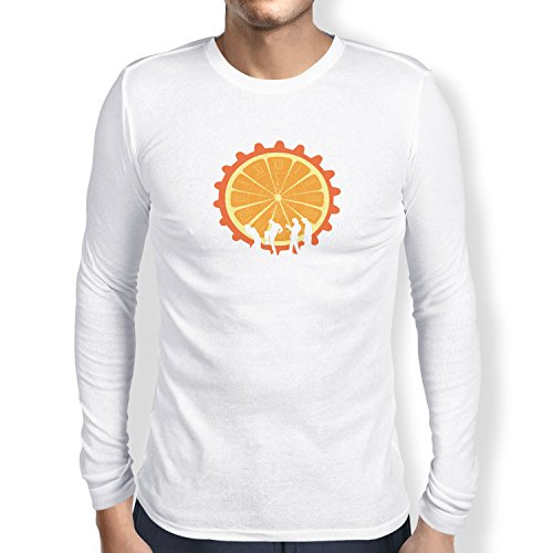 NERDO - The Orange - Herren Langarm T-Shirt, Größe XXL, weiß