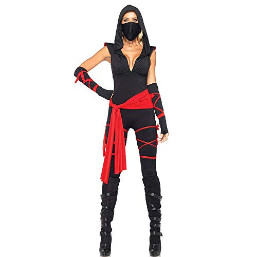 Halloween-Piraten-Kostüm, Anime Ninja-Kostüm, Maskierte Krieger Frau Uniform Ninja, XL, Medium
