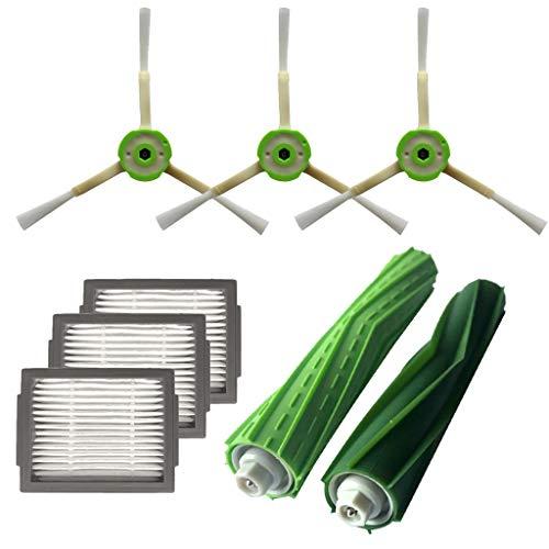 IYU_Dsgirh - Spazzola Laterale e filtri Hepa e Spazzola di setole per aspirapolvere iRobot Roomba i7 + / i7 Plus E5 E6 E7, Bianco, 25.5x9.5cm/10x3.74inch